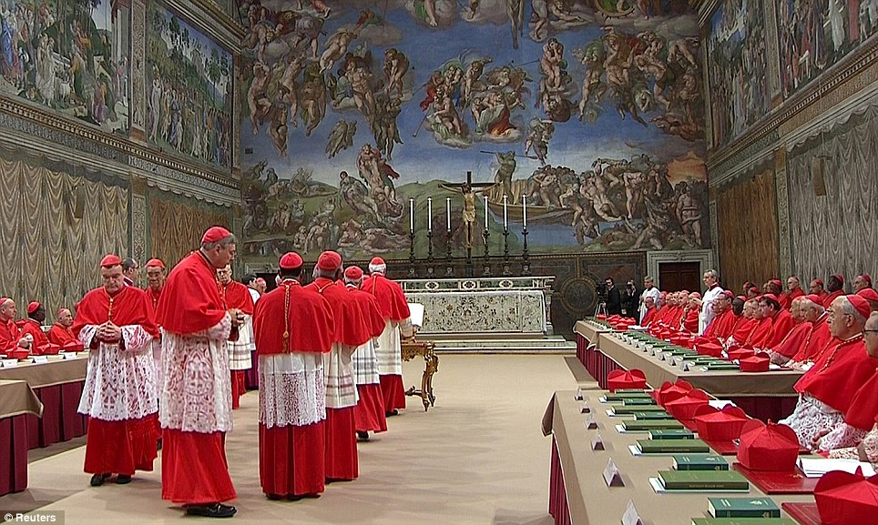 Cardinals electing Pope