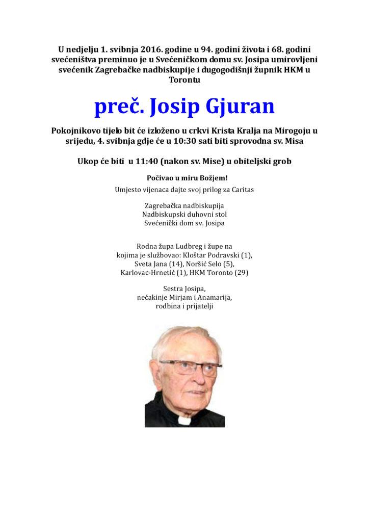 Osmrtnica Gjuran Josip-2016