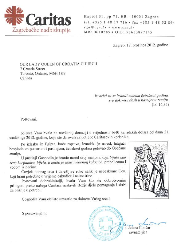 Donacija Zagrebacki Caritas 17DEC2012