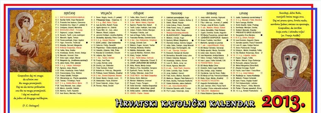 Hrvatski Katolicki Kalendar2013