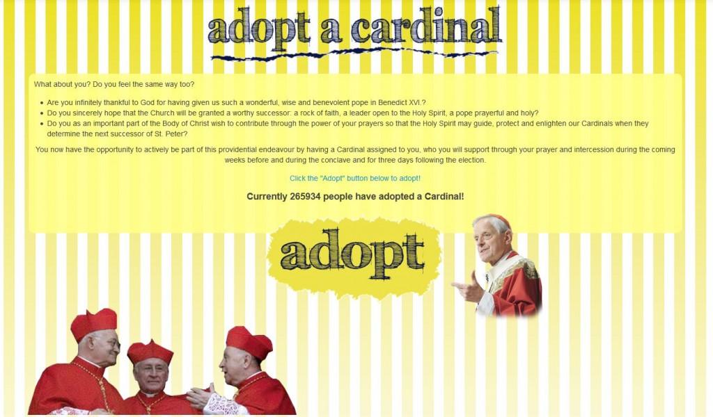 1) Adopt a Cardinal